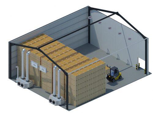 Storage Room Ventilation : Box storage controlled atmosphere dutch distribution centres