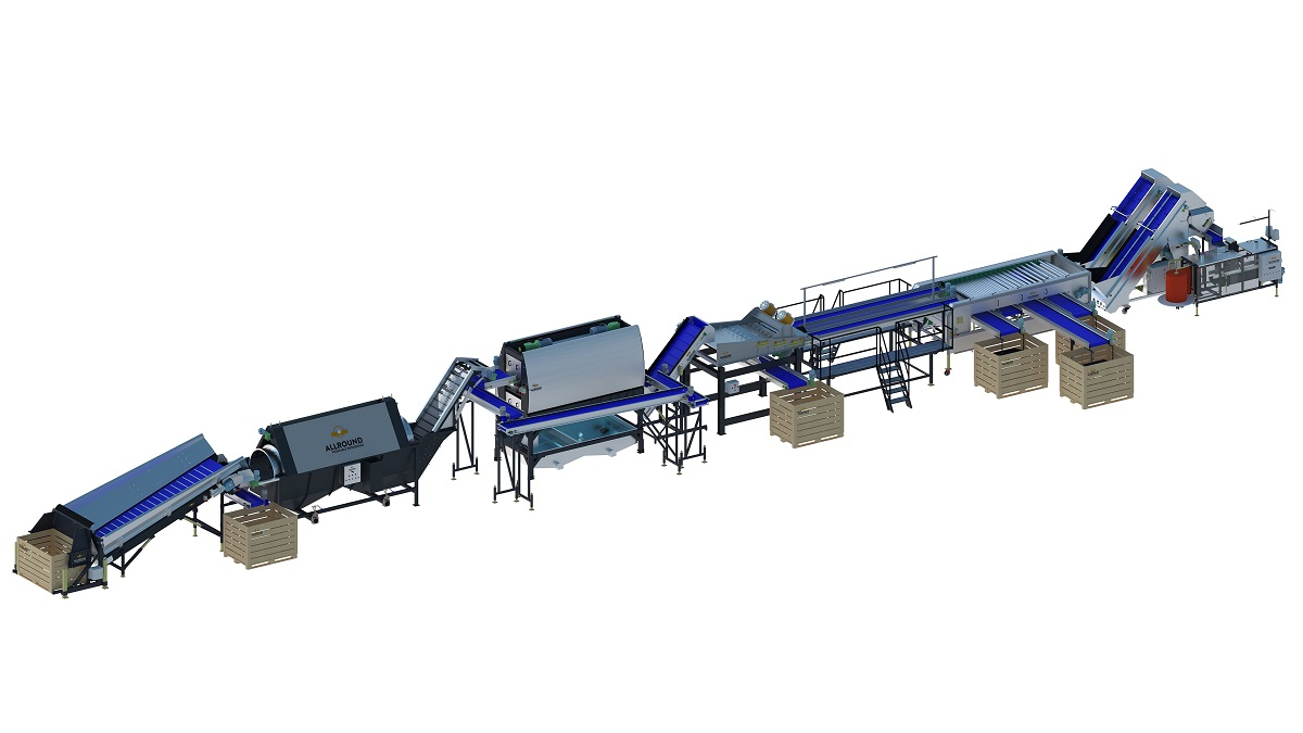 Carrot processing line of allround