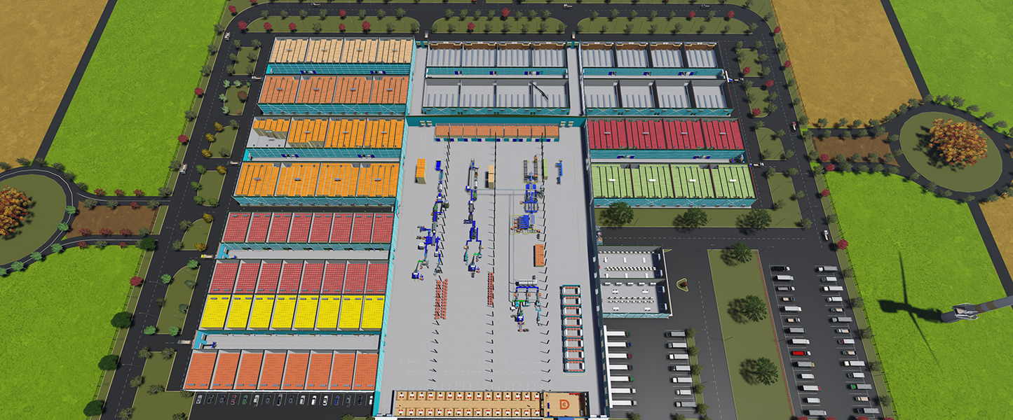 distribution centre without roof