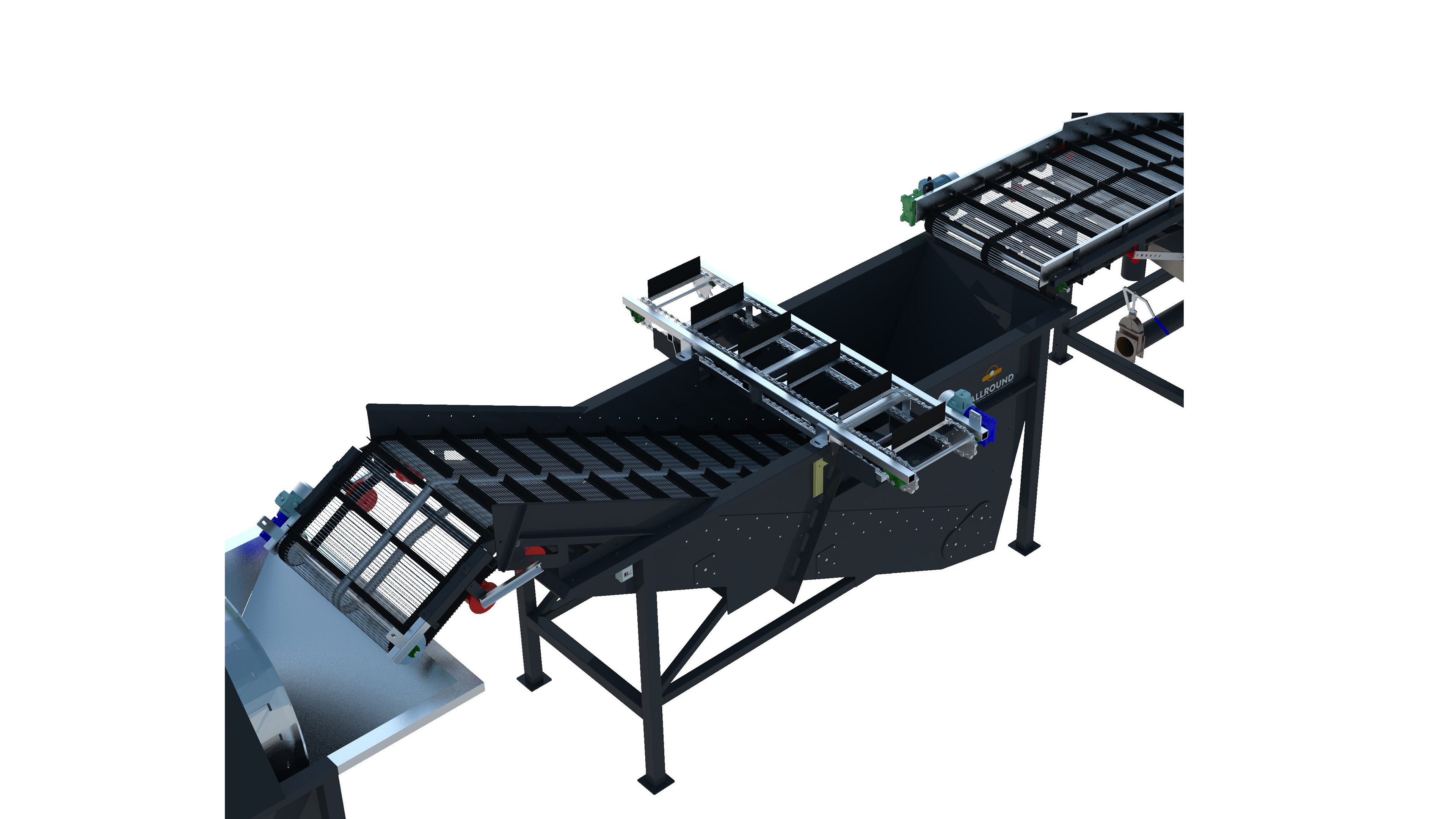 Industrial potato washing line 500 series area