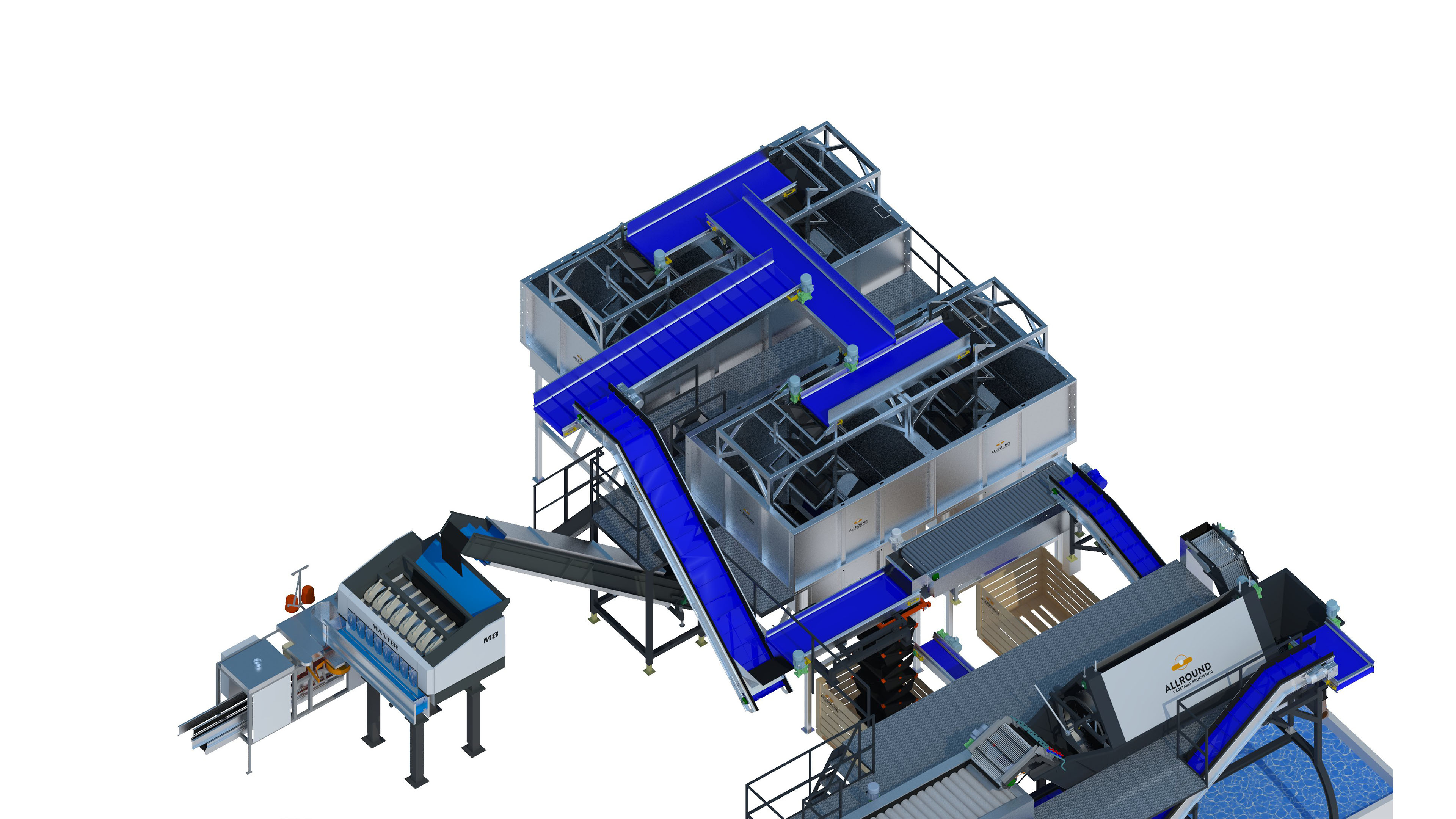 TABLEINDUSTRIAL POTATO WASHING & PACKAGING LINE
