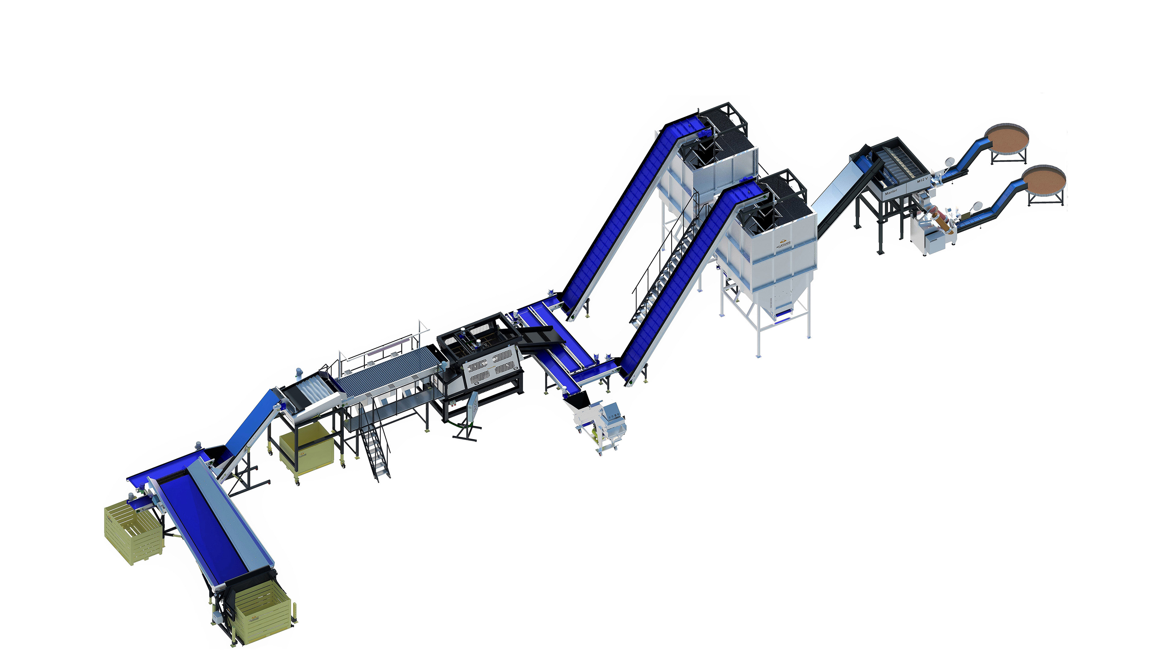 POTATO CLEANING, GRADING AND RETAIL PACKAGING LINE
