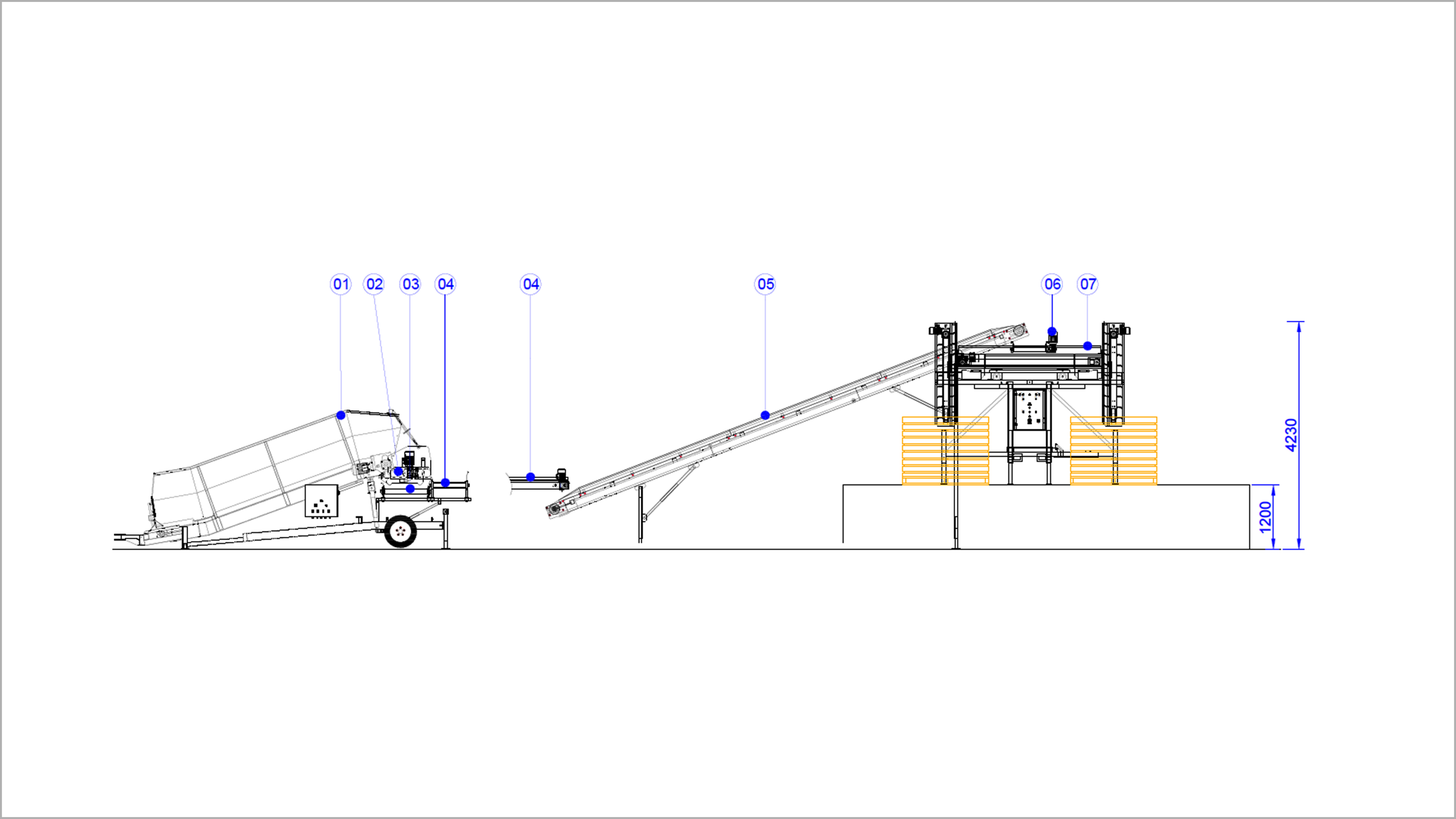 receiving line 2d side