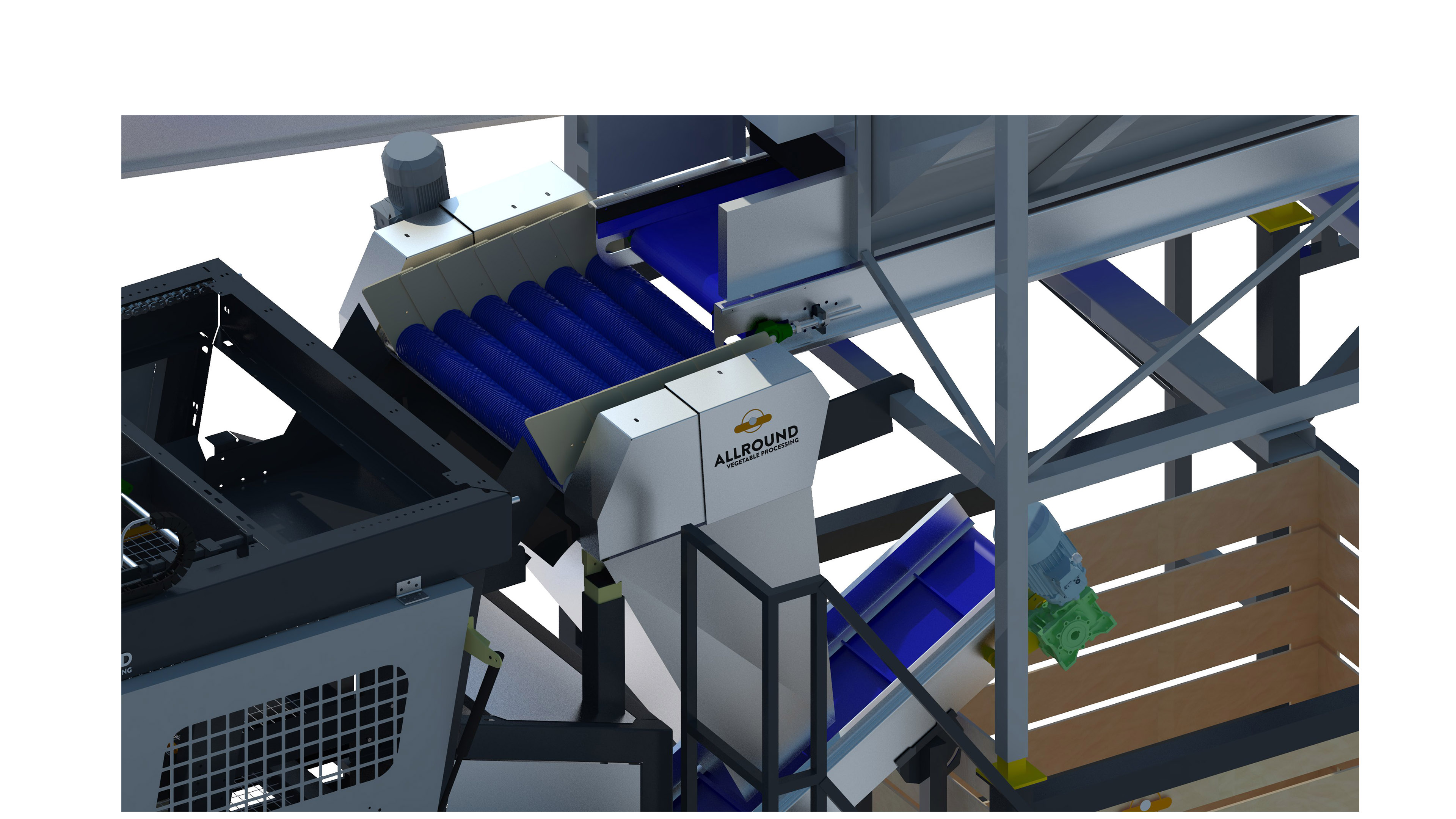 TABLE/INDUSTRIAL POTATO WASHING & PACKAGING LINE
