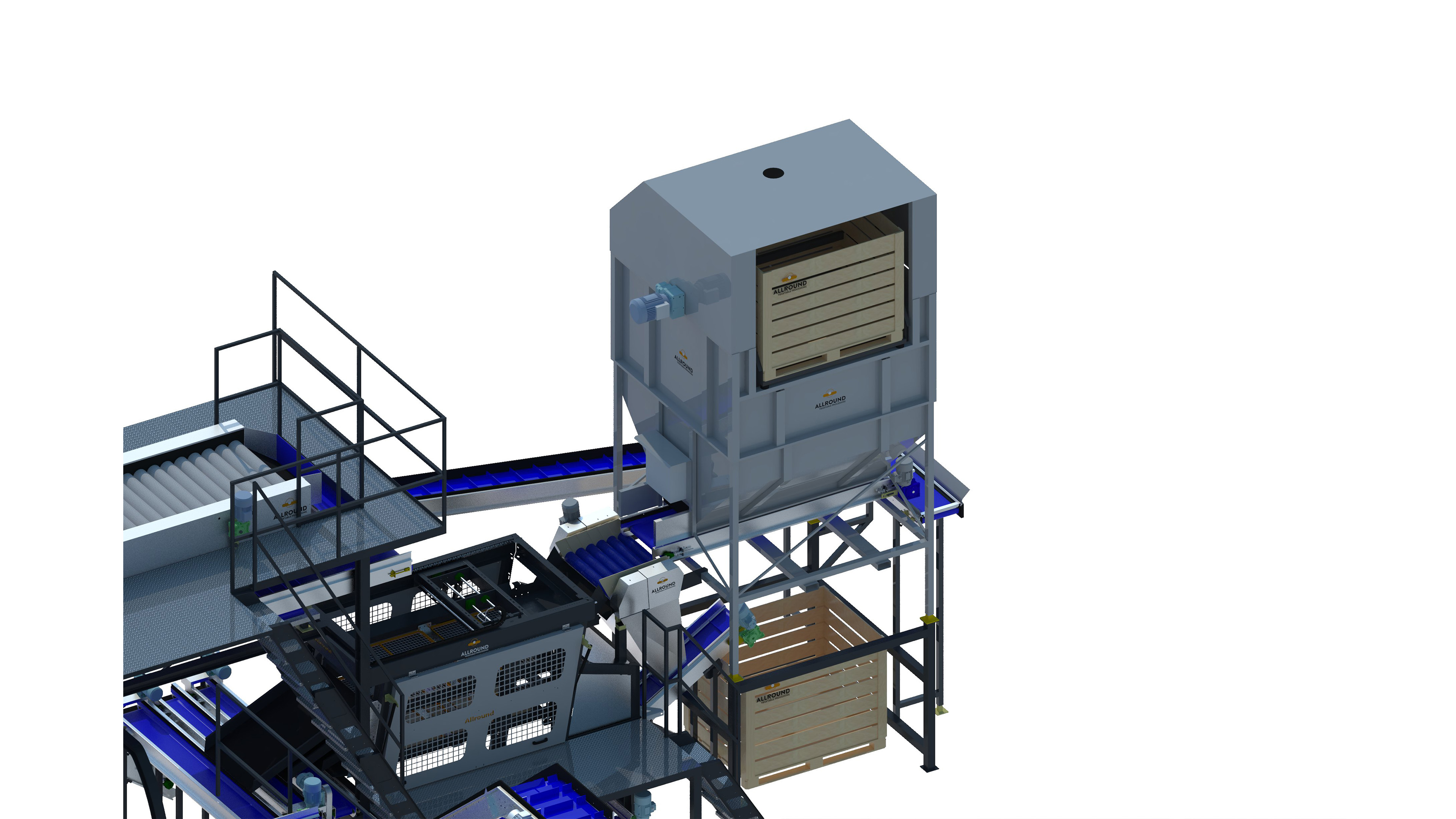 TABLE/INDUSTRIAL POTATO WASHING & PACKAGING LINE 6